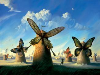Salvador Dalí: Molinos de viento