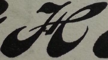 H con plumín
